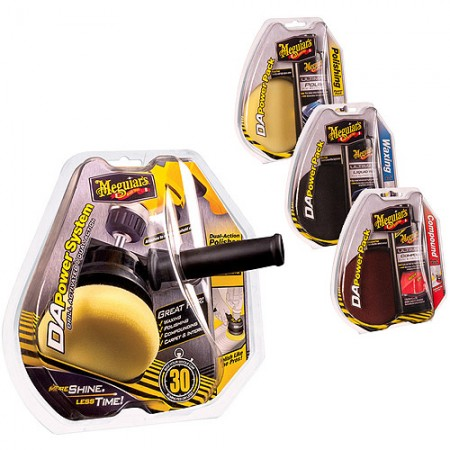 Meguiars DA Power System + Compounding, Polishing and Waxing Pad Pack