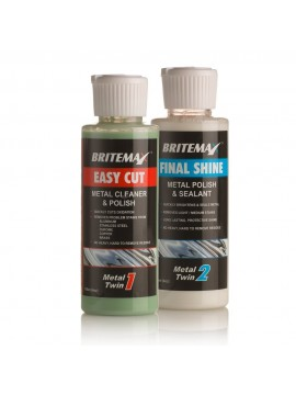 Britemax Metal Polish Twins Kit - Metal cleaner, polish and sealant twin pack