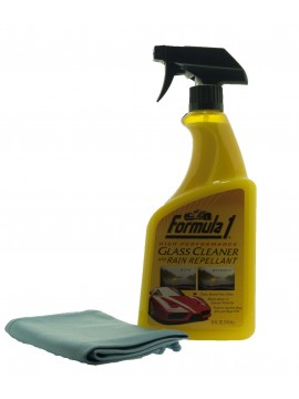 Formula 1 Glass Cleaner with Rain Repellant with glass cloth