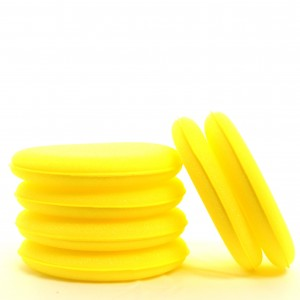 Yellow Foam Applicator Pads 6 Pack